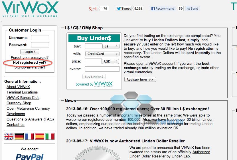 virwox регистрация