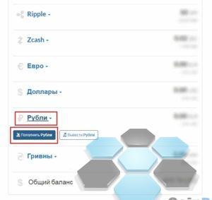 Пополнение рубли криптонатор
